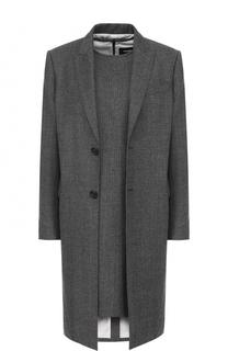 Шерстяной комплект из пальто и платья Dsquared2
