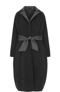 Шерстяное двустороннее пальто с поясом Victoria Andreyanova
