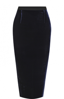 Однотонная юбка-карандаш с широким поясом Roland Mouret