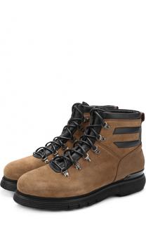 Высокие замшевые ботинки на шнуровке с внутренней меховой отделкой W.Gibbs