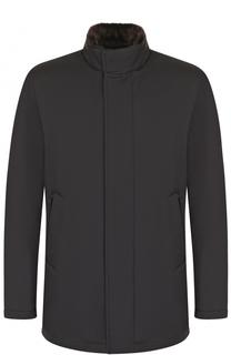 Куртка на молнии с внутренней меховой подкладкой Loro Piana