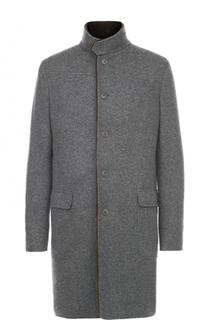 Однобортное кашемировое пальто с меховой подкладкой Loro Piana