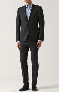 Шерстяной костюм в клетку с пиджаком на двух пуговицах Valentino