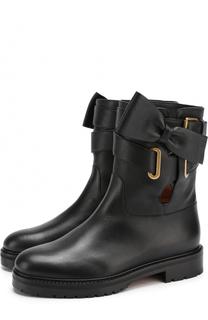 Кожаные ботинки Bowrap с ремешками Valentino