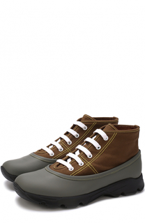 Текстильные ботинки с отделкой из резины Marni
