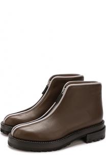 Кожаные ботинки на молнии Marni