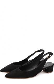 Замшевые туфли с ремешком Mansur Gavriel