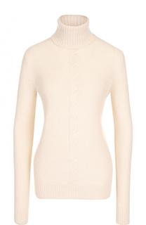 Кашемировый свитер прямого кроя с высоким воротником Loro Piana