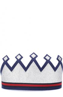 Повязка на голову в виде короны Gucci