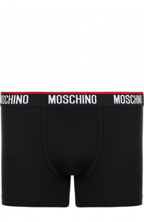 Хлопковые боксеры с широкой резинкой Moschino