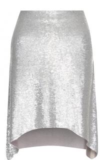 Мини-юбка асимметричного кроя с пайетками Iro