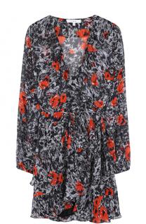 Приталенное мини-платье с оборками и принтом Iro
