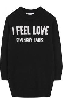 Мини-платье из шерсти и кашемира с принтом Givenchy