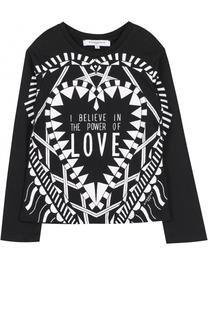 Трикотажный лонгслив с принтом Givenchy