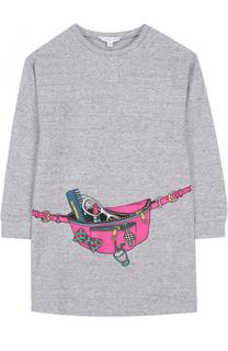 Трикотажное мини-платье с принтом Marc Jacobs