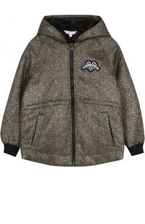 Куртка с капюшоном и металлизированной отделкой Marc Jacobs