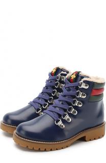 Кожаные ботинки с молнией Gucci