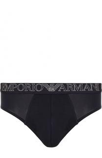 Брифы с широкой резинкой Emporio Armani