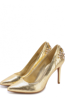 Туфли Claire из металлизированной кожи с кристаллами MICHAEL Michael Kors