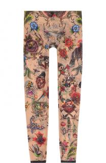 Облегающие прозрачные брюки с принтом Dsquared2