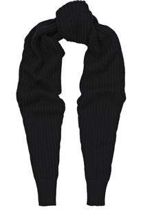 Шерстяной шарф фактурной вязки Giorgio Armani