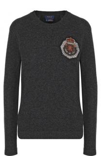 Пуловер из смеси шерсти и кашемира с декоративной отделкой Polo Ralph Lauren