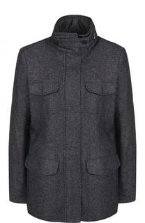 Приталенная куртка из смеси кашемира и льна Loro Piana