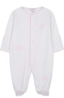 Хлопковая пижама с вышивками Kissy Kissy