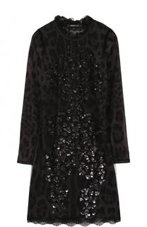 Приталенное мини-платье с открытой спиной Roberto Cavalli