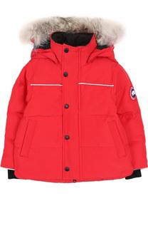 Пуховая куртка Snowy Owl с меховой отделкой на капюшоне Canada Goose