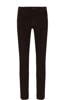 Хлопковые брюки прямого кроя Brioni