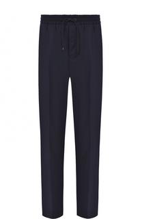 Шерстяные брюки прямого кроя с поясом на кулиске Ami