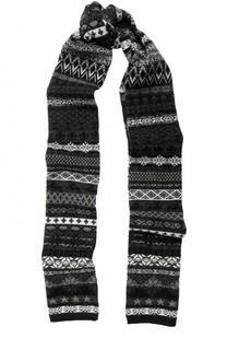 Шерстяной шарф с принтом Gemma. H