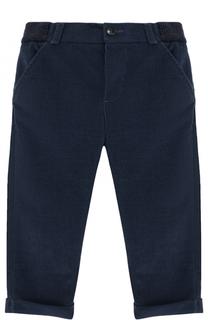 Хлопковые брюки с эластичной вставкой на поясе Loro Piana
