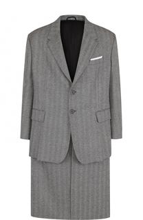 Однобортное шерстяное пальто Neil Barrett