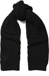 Шерстяной шарф фактурной вязки Junya Watanabe