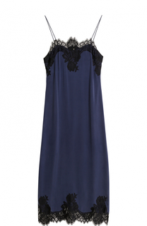 Приталенное платье-комбинация с кружевной отделкой Alice + Olivia