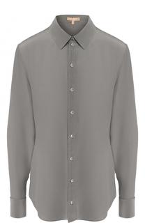 Приталенная шелковая блуза Michael Kors