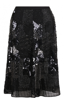 Однотонная юбка-миди с вышивкой Polo Ralph Lauren