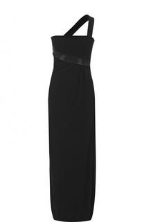 Однотонное платье-макси со стразами Armani Collezioni