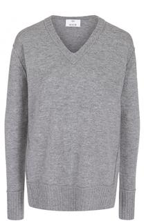 Пуловер из смеси шерсти и кашемира с V-образным вырезом Allude