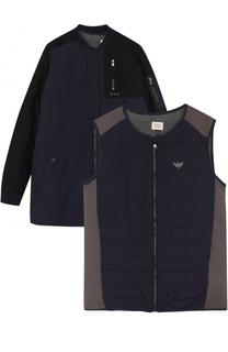 Комплект из жилета и укороченного пальто Armani Junior