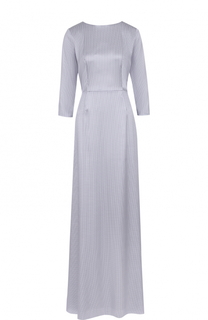 Приталенное шелковое платье-макси с ремнем Alexander Terekhov