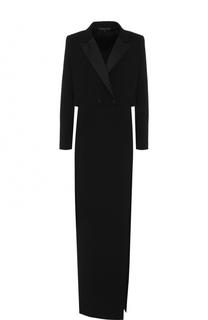 Приталенное платье-макси с высоким разрезом Alexander Terekhov