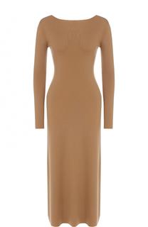 Платье-миди из смеси кашемира и шелка с V-образным вырезом Alexander Terekhov