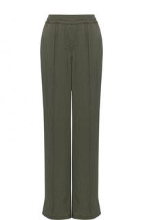 Шелковые брюки прямого кроя с эластичным поясом Alexander Terekhov