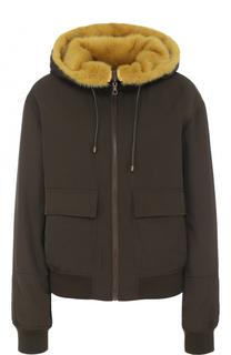 Двусторонняя куртка с подкладкой из меха норки Army Yves Salomon