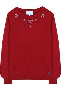 Вязаный пуловер с кристаллами Lanvin