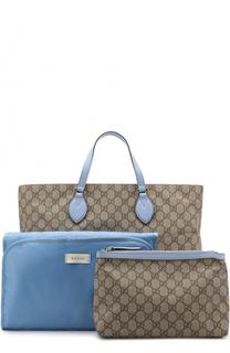 Комплект из сумки с косметичкой и ковриком для пеленания Gucci
