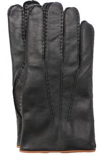 Кожаные перчатки с кашемировой подкладкой Ermenegildo Zegna